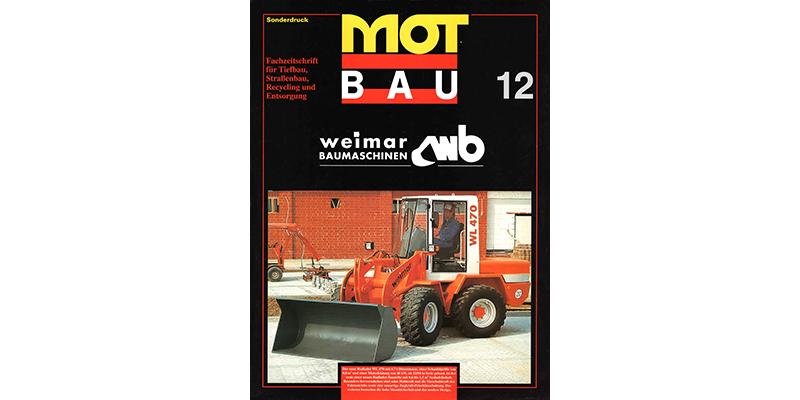 1995-Sonderdruck-MOTBAU-bauma 1995-weimarBAUMASCHINEN