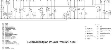HYDREMA WL470 - WL520 - WL580 - Elektroschaltplan mit Display