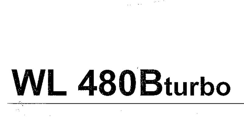 WL480Bturbo Bedienanweisung