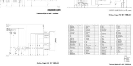HYDREMA WL480 - WL550 Elektroschaltplan