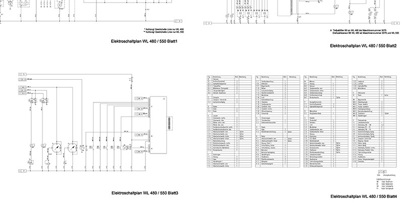 WL480-WL550 Elektroschaltplan