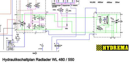 HYDREMA WL480 - WL550 Hydraulikschaltplan