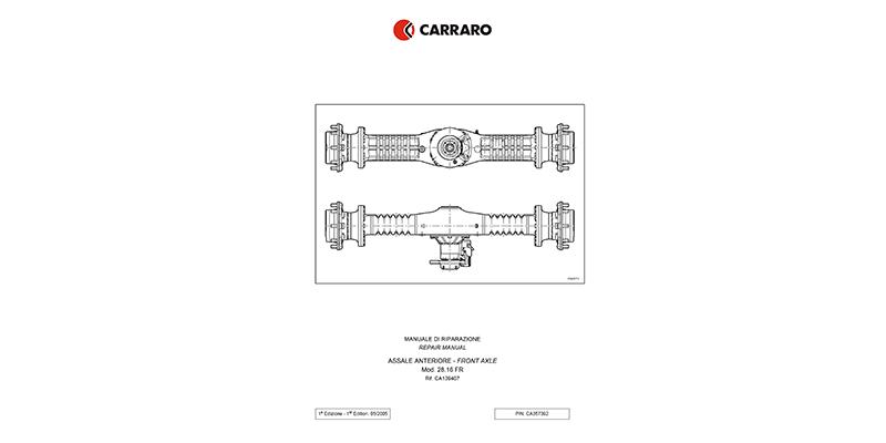 WL480C/WL550C Reparaturhandbuch CARRARO Vorderachse