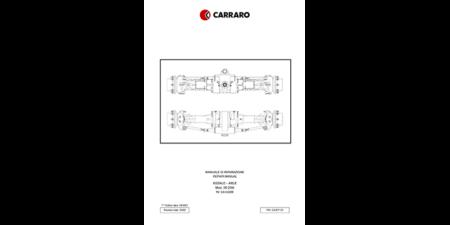 2001 - M800 / M1100 Reparaturhandbuch CARRARO Vorderachse