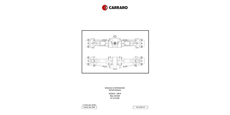 M800/M1100 Reparaturhandbuch CARRARO Vorderachse