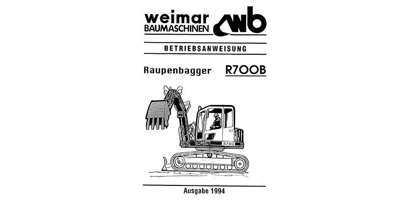 R700B Betriebsanweisung 1994