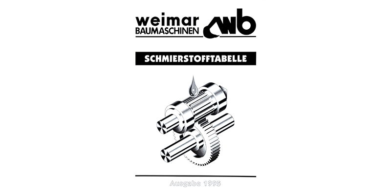 Schmierstofftabelle weimar Baumaschinen - 1995